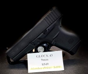GLOCK 43 Single stack, 9mm pistol is ultra-concealable and accurate