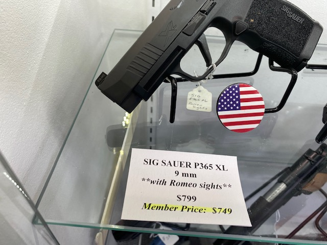 Sig Sauer P365 XL 9mm with Romeo sights
