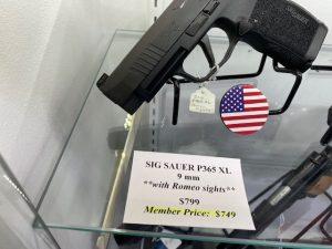 Sig Sauer P365 XL 9mm with Romeo sights